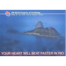 BP-184 - 1998 - XIII WORLD CONGRESS OF CARDIOLOGY - RHM R$ 35,00 (10 UFs)