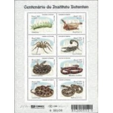 BL-118 - MINT - 2001 - INSTITUTO BUTANTAN - COBRAS - INSETOS - RHM R$ 28,00 (8 UFS)