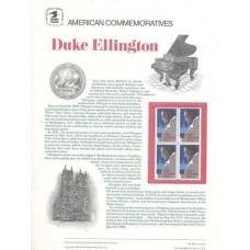 ESTADOS UNIDOS (EUA / USA) -1986 - YT-1628 - 3,20 EUROS - NOVOS (MINT) - PIANO - DUKE ELLINGTON